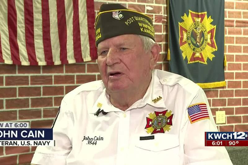 U.S. Navy veteran John Cain