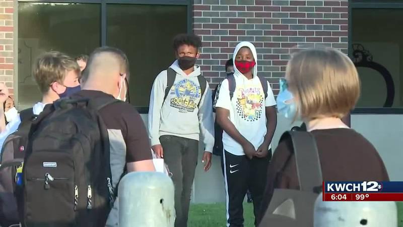 Wichita students in masks