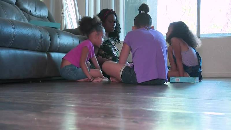 Dasha Kelly and her three children face eviction from their Las Vegas apartment.