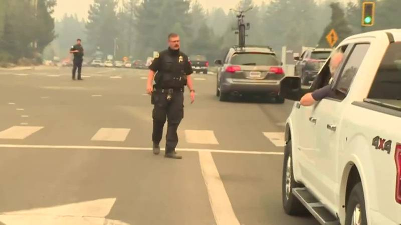 With evacuation orders lifted, some residents are returning to South Lake Tahoe.