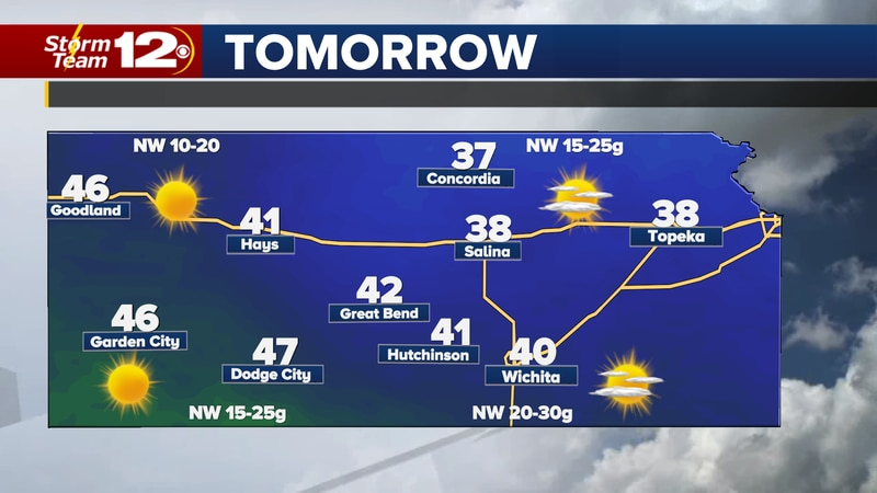 After a cloudy and rainy start to the weekend, sunshine will take over Kansas on Sunday.