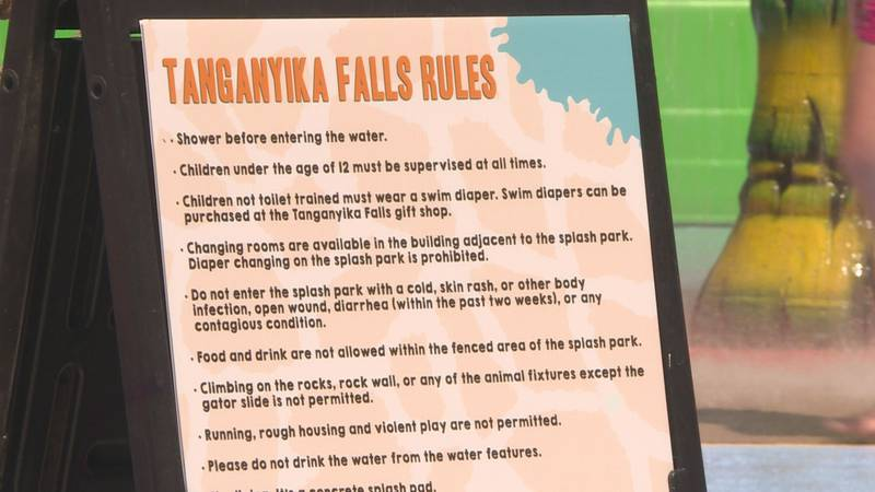Splash pad at Tanganyika Wildlife Park gets county health department approval to reopen.
