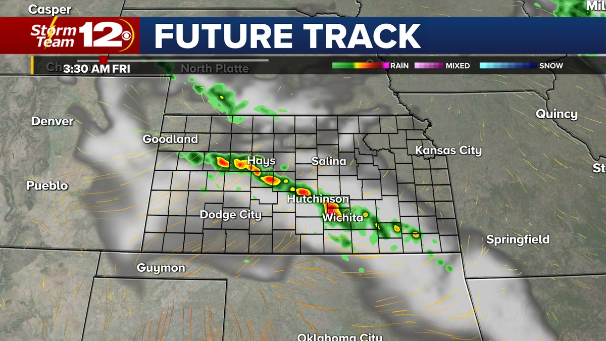 Chances for storms will return to Kansas during the overnight hours.