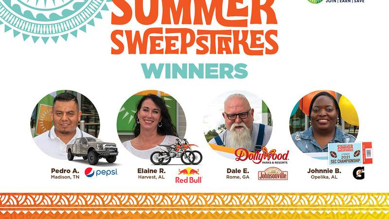 MAPCO congratulates the grand prize winners of the company's Summer Sweepstakes