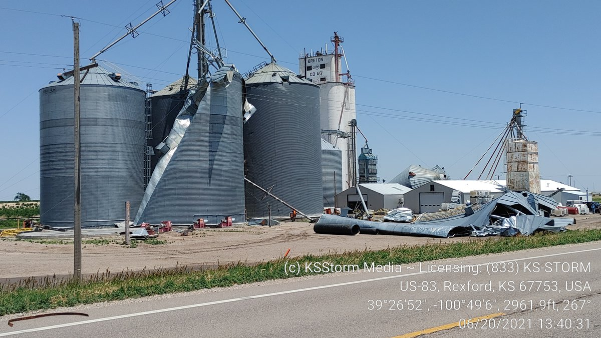 High wind gusts cause damage in Northwest Kansas