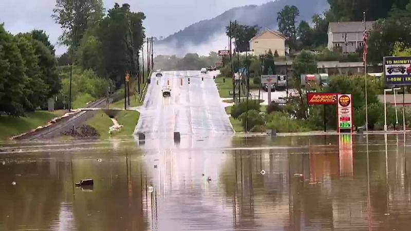 Tropical Storm Fred turned into a depression and dumped several inches of rain across western...