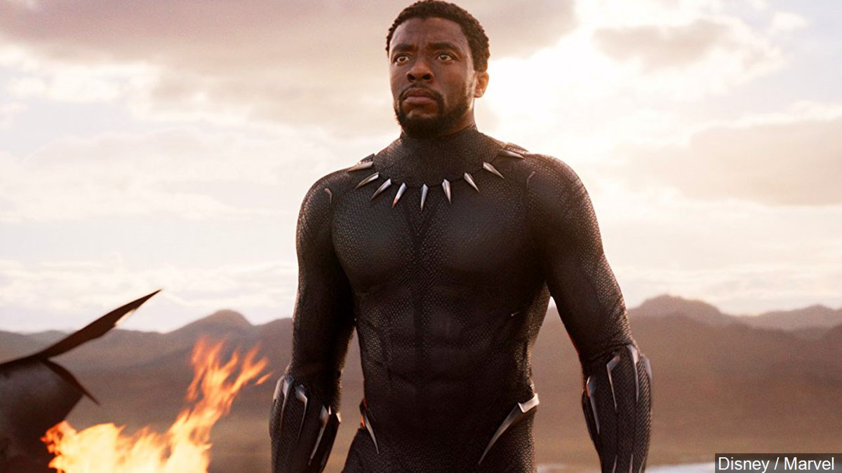 Chadwick Boseman in his role as T'Challa (AKA: the Black Panther) from the Marvel superhero...