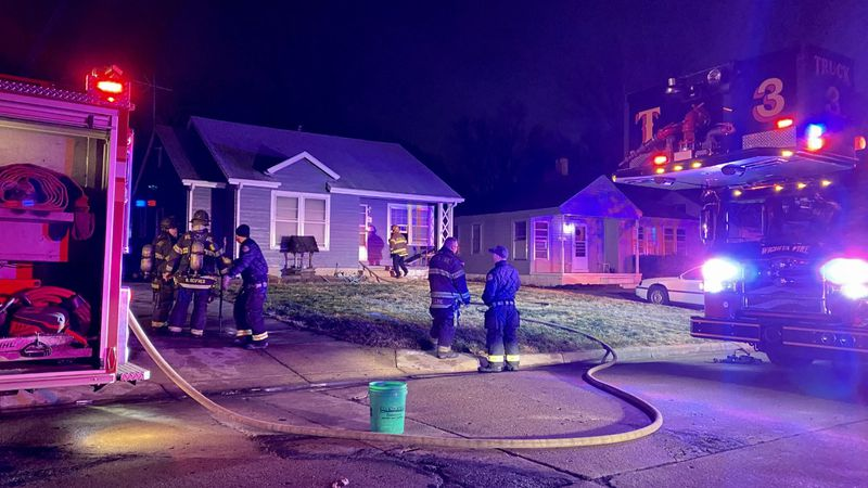 A fire forced four people out of their home in east Wichita.