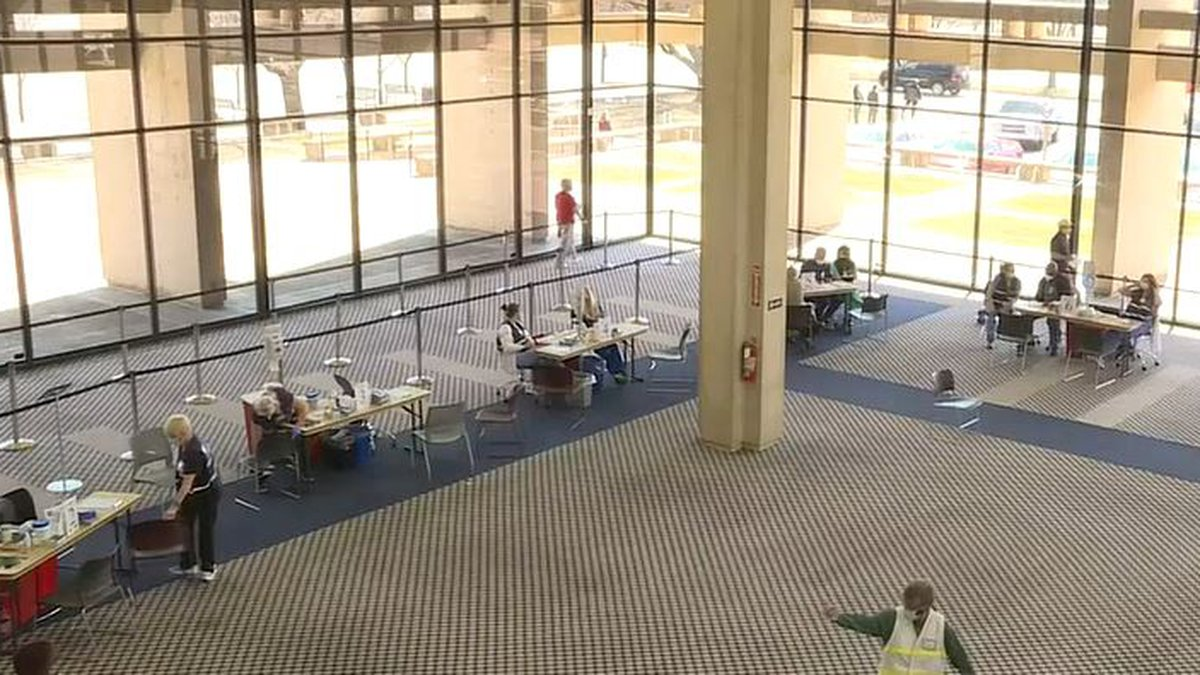 Sedgwick County vaccine site at Wichita's old downtown library