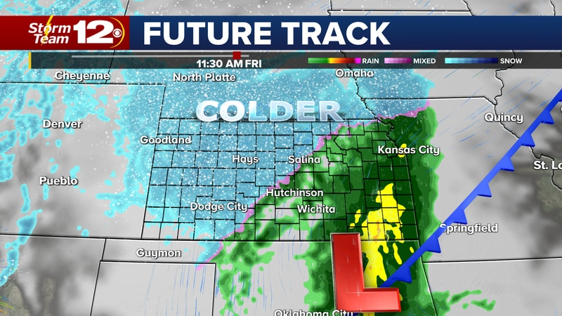 Changes arrive for the end of the week that will include rain and snow.