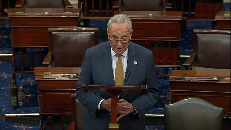 """Sen. Chuck Schumer says bipartisan infrastructure talks have """"reached a critical moment"""" and..."""