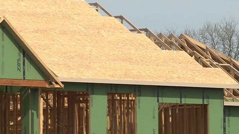 New home construction in the Wichita area