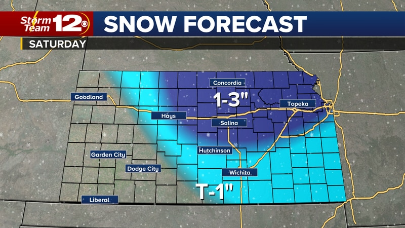 Chance for some light snow on Saturday