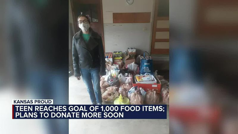 KANSAS PROUD: Local teen reaches donation goals, continues collecting items for Lord's Diner