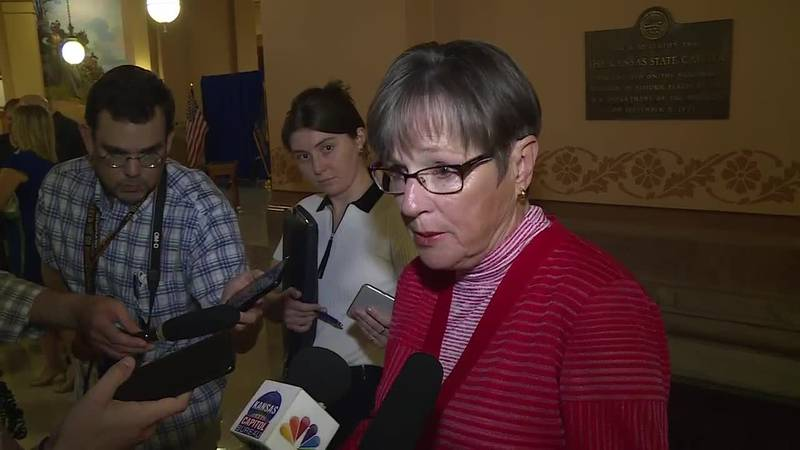 Gov. Laura Kelly answers questions about the state's COVID-related disaster declaration and...