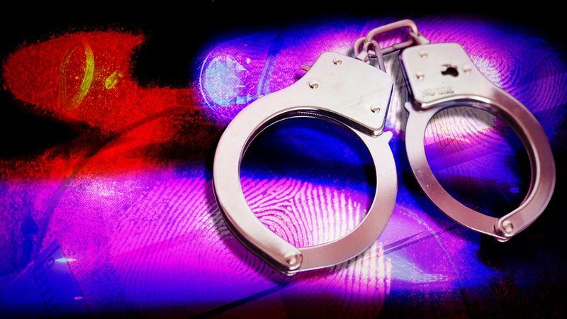 KWCH arrests, handcuffs, police lights