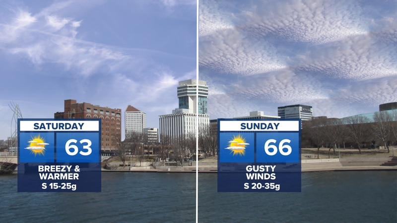 Highs in the 60s this weekend.