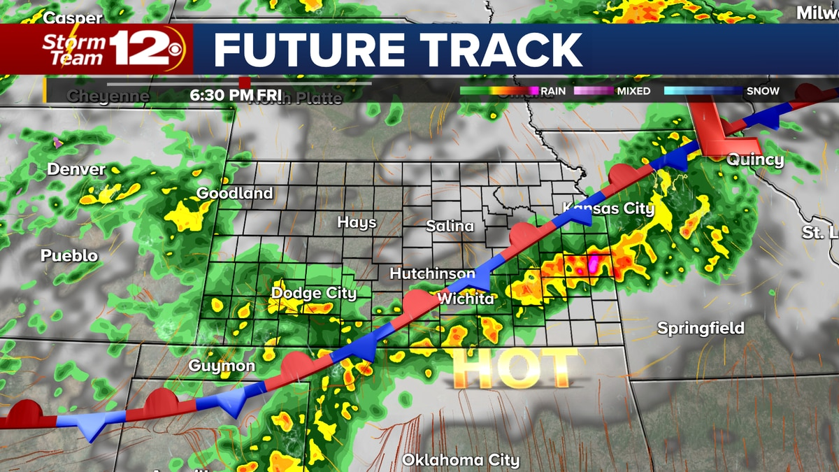 More active weather coming Friday afternoon.