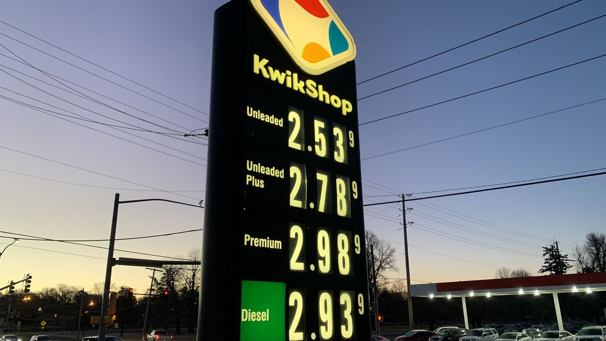 Gasoline prices at some Topeka stations have risen to more than $2.50 a gallon on Tuesday...