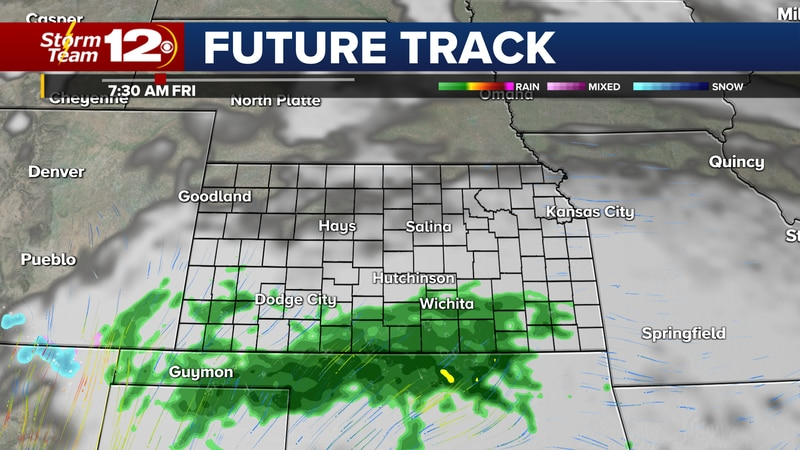 Chances for showers will linger into Friday morning.