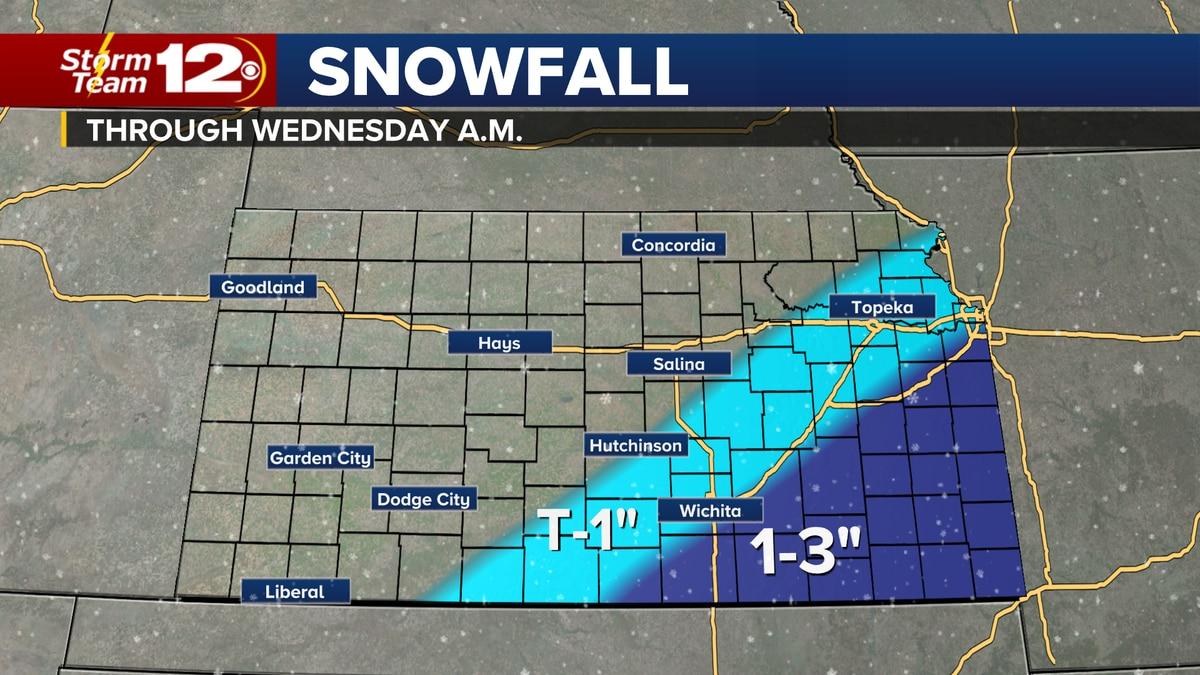 Light snow for parts of Kansas overnight.