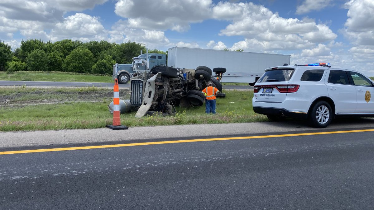 The Harvey County Sheriff's Office said a semi blew a tire on I-135 Tuesday afternoon and...