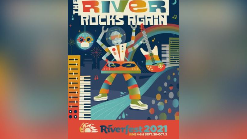 Meghan and Juanta Wolfe, who were the winners of the Riverfest 2020 Poster & Artwork Contest,...
