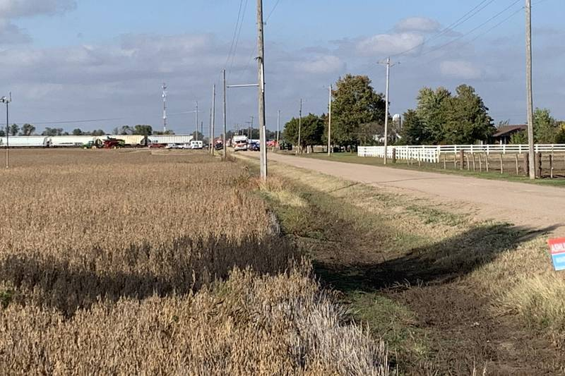 Sedgwick County emergency crews say one person died and two others were hurt Tuesday afternoon...