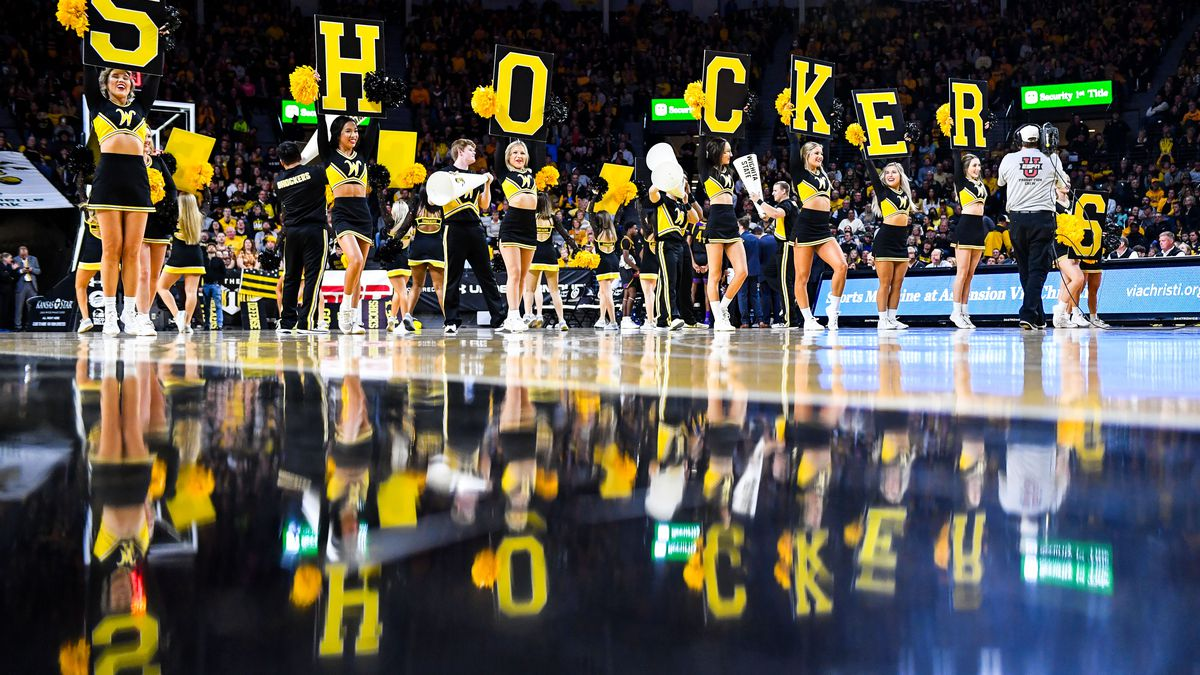 Jan, 1, 2020; Wichita, Kansas, USA;  during an AAC matchup between the Wichita State Shockers...