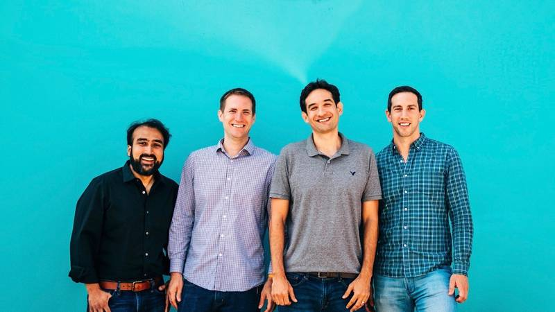 The Rhombus Systems Founding Team. From left to right, Omar Khan (CTO), Dave Gustafson (VP of...
