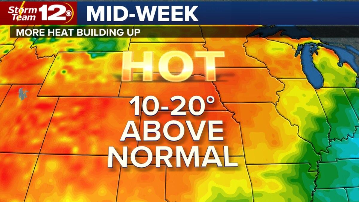 Heat building, humidity too