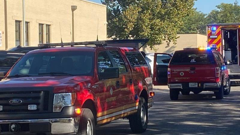 The Wichita Fire Dept. responds to a report of a natural gas odor Friday, Sept. 17, 2021 at...