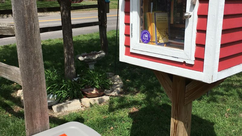 The blessing box that usually sits below Jennifer Clark's Little Free Library was stolen, and...