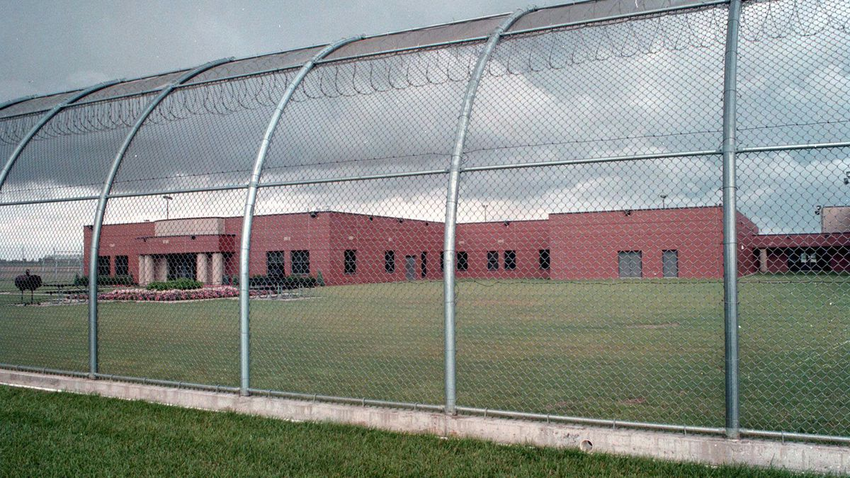 A wing of the Larned Correctional Mental Health Facility, shown Monday June 23, 1997, in...