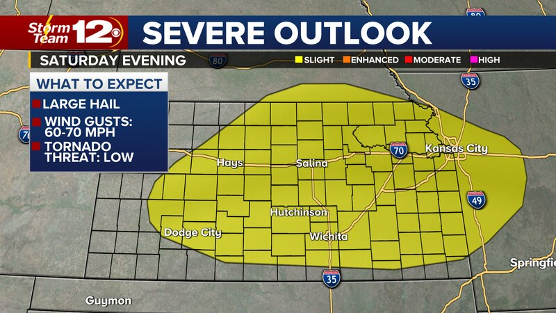 Severe chance returns Saturday