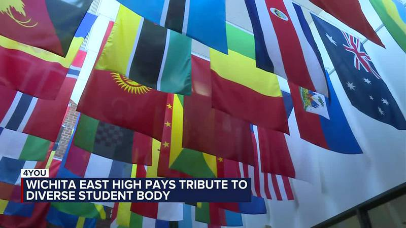 Flags at East High School