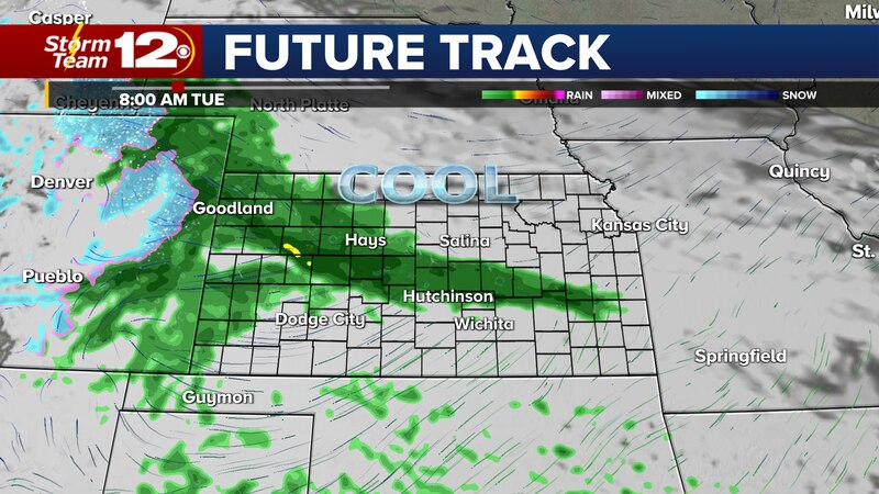 Wet weather is likely on Tuesday