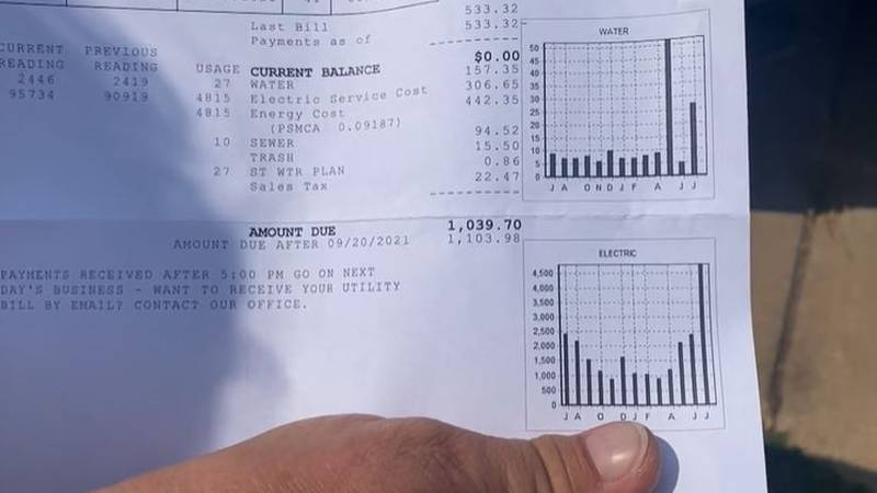 Wellington residents say they are concerned after receiving utility bills that have nearly...