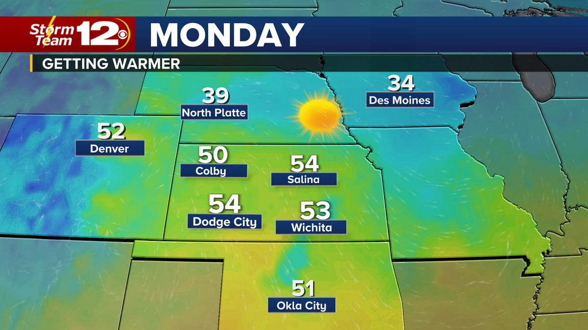 After a chilly start to the new year, we'll get warmer for the start of the work week.