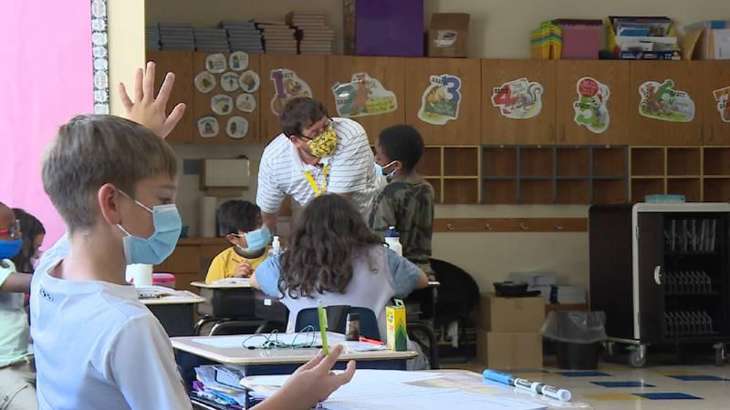 Guest teacher at Stanley Elementary School
