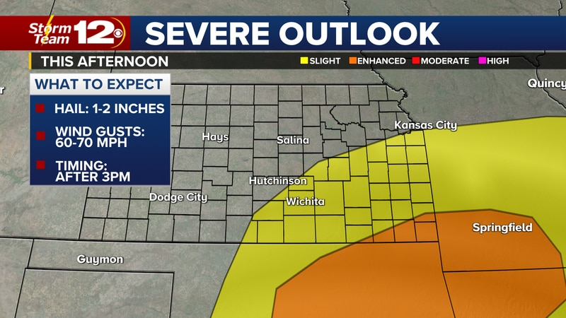 Severe weather outlook this afternoon.