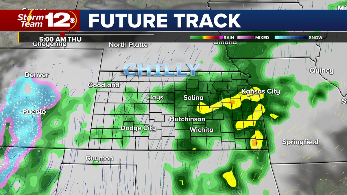 More rain is coming to Kansas overnight and early Thursday.