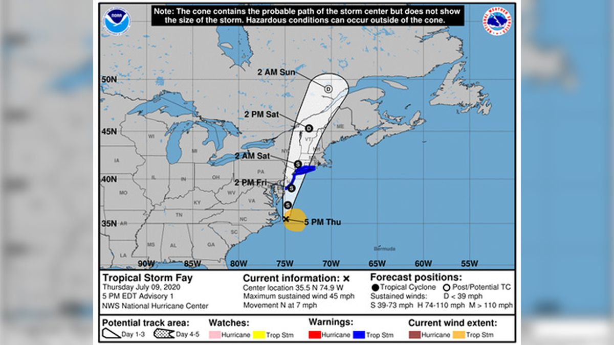 The U.S. National Hurricane Center announced the storm's formation Thursday afternoon.