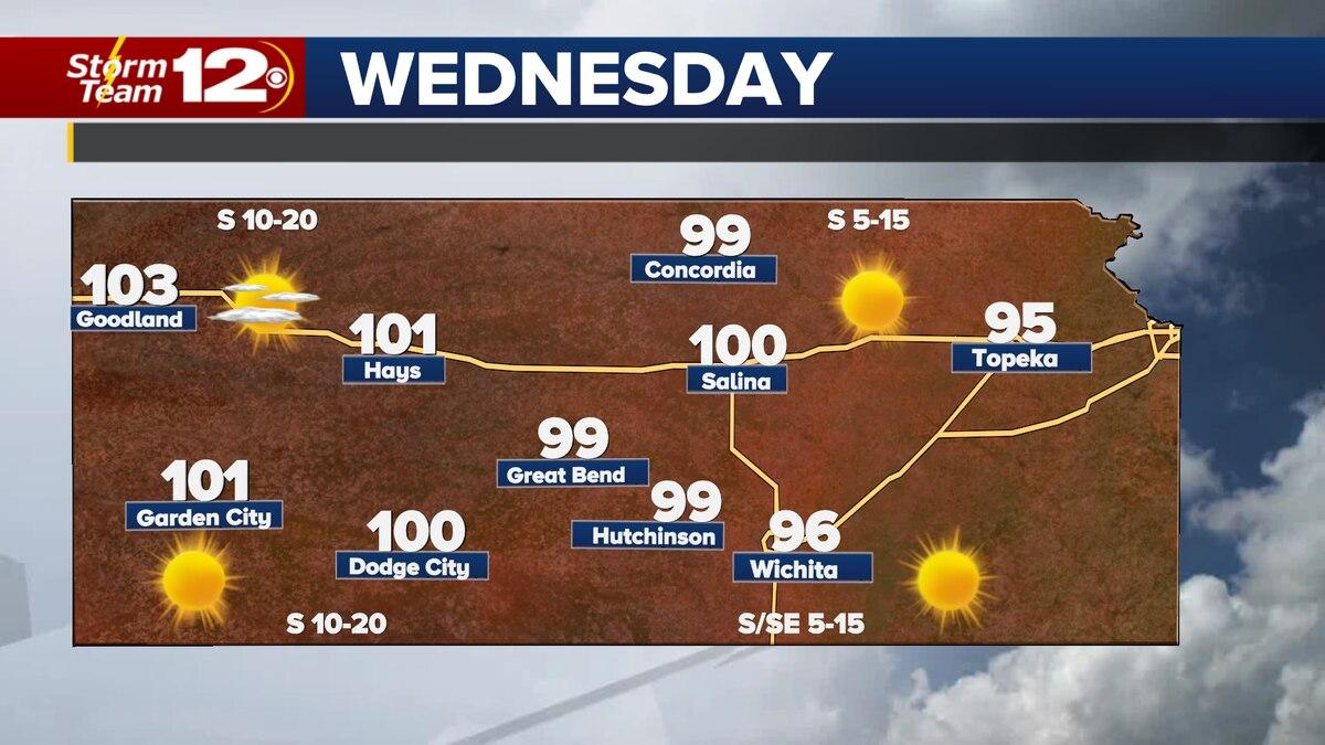 Forecast high temperatures Wednesday.