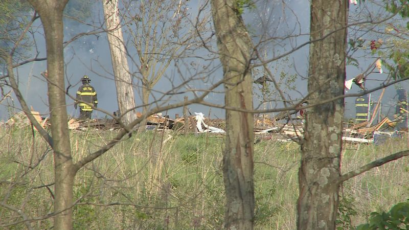 A house explosion north of Holton killed a man and seriously injured a woman.