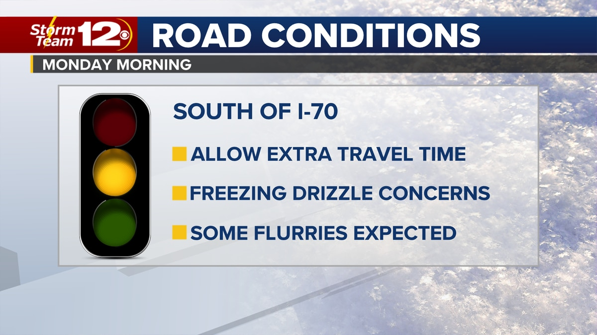 Freezing drizzle causes travel concerns