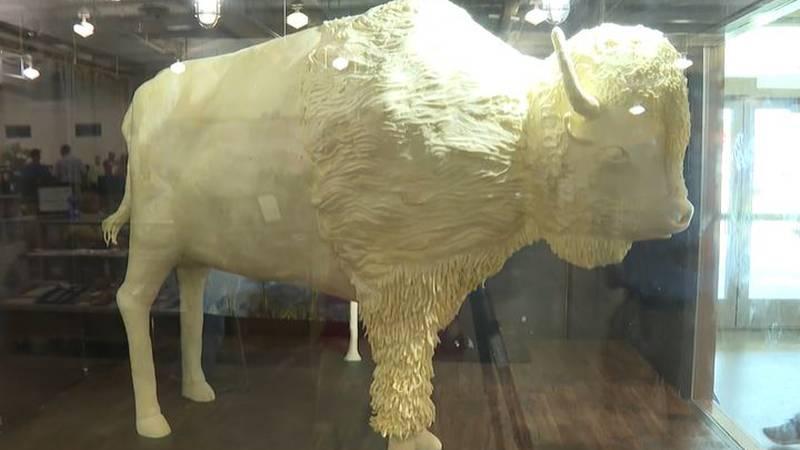 Butter bison featured at Kansas State Fair.