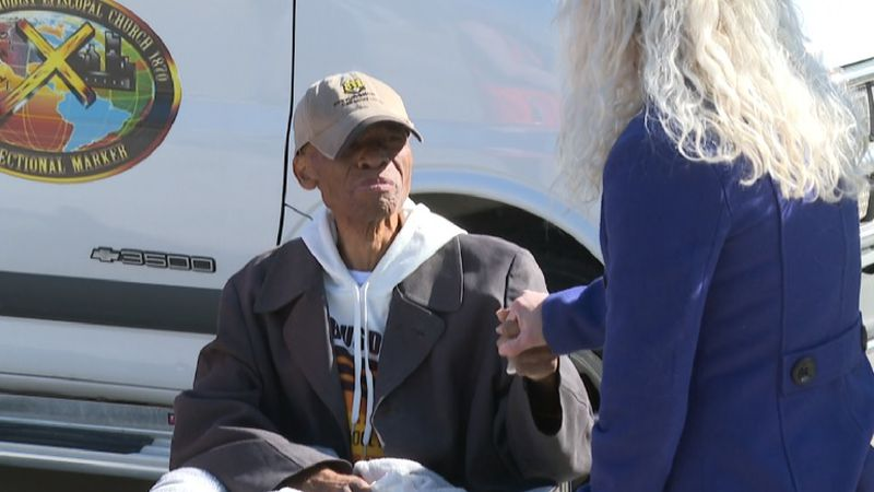 Wichita school bus driver Bryant Wesley was honored with a school bus parade as fellow drivers...