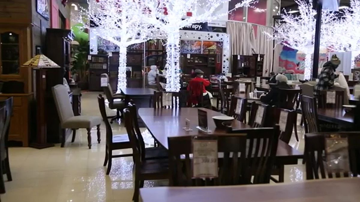 Furniture store owner opens his stores to help Texans stuck at home with no power or heat.