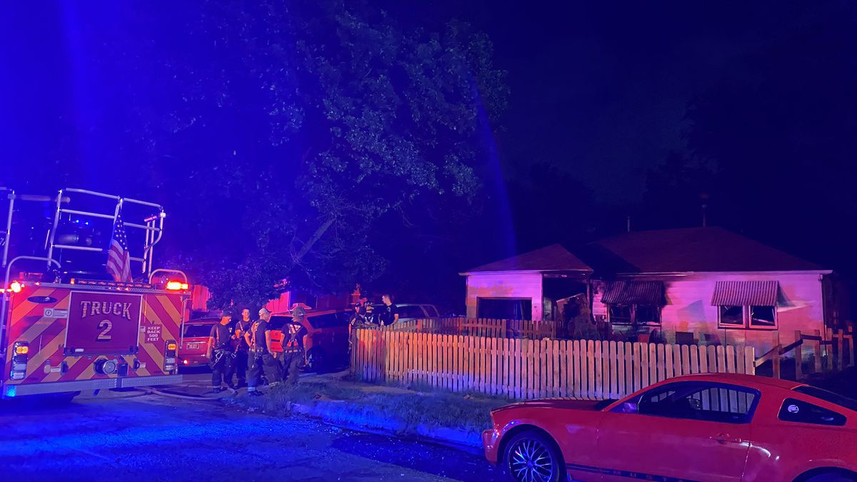 Two people were taken to the hospital, but both are expected to be okay.